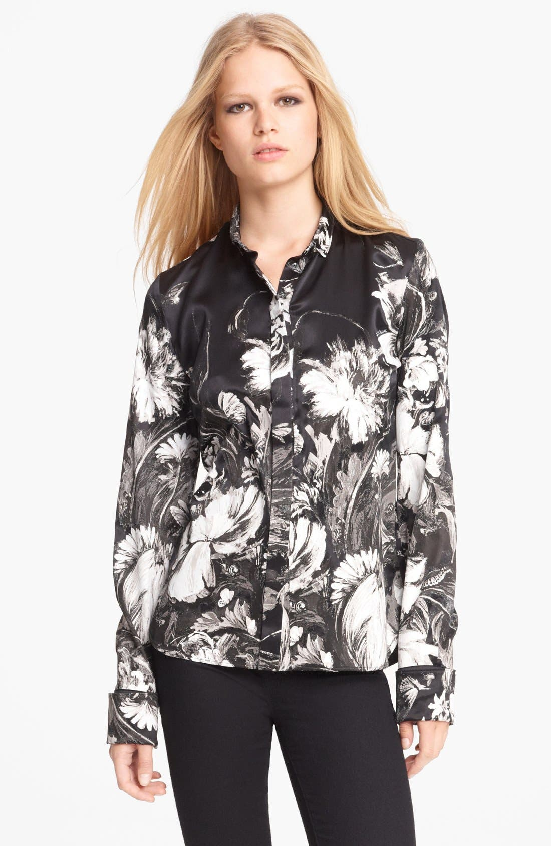 Alternate Image 1 Selected - Roberto Cavalli Floral Silk Blouse
