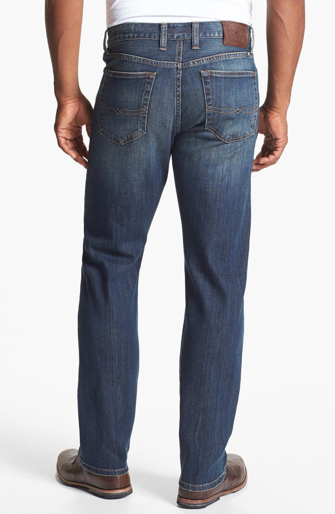 Alternate Image 2  - Lucky Brand '329 Classic' Straight Leg Jeans (Glacier)