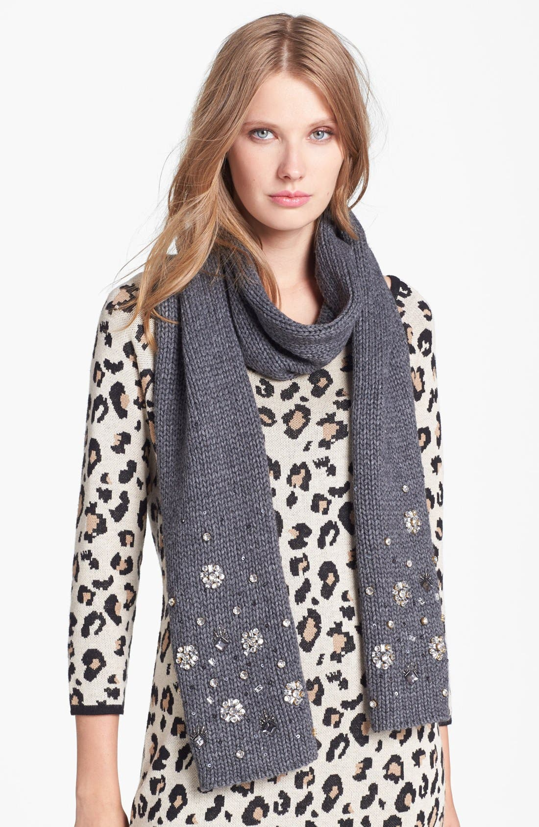 Alternate Image 1 Selected - kate spade new york embellished scarf