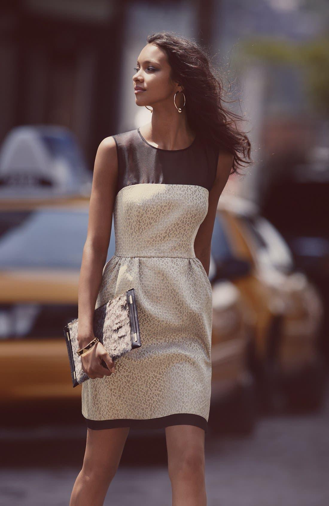 Alternate Image 4  - Ivy & Blu Jacquard Fit & Flare Dress