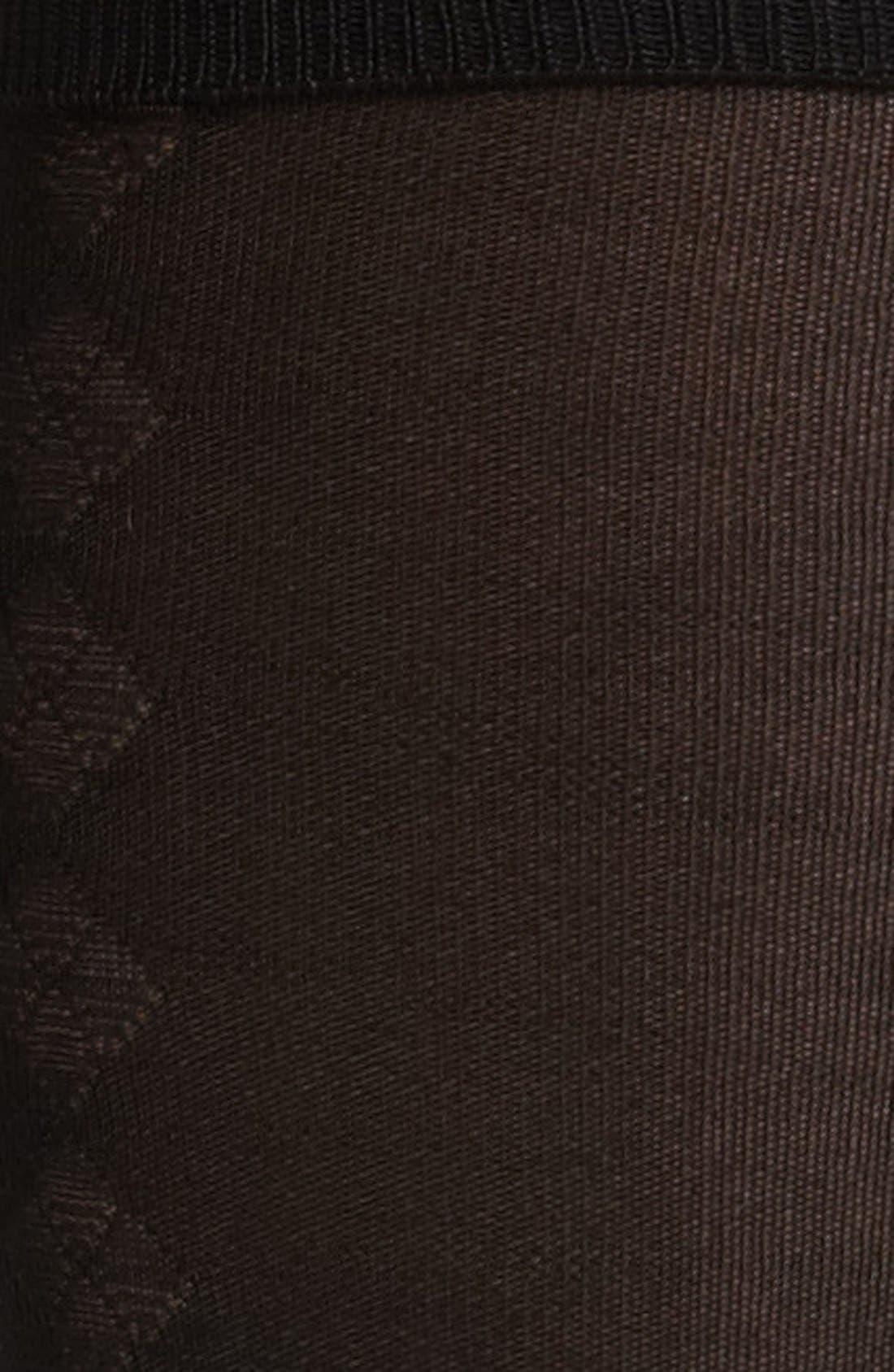 Alternate Image 2  - Pantherella Silk Blend Diamond Formal Socks (Online Only)