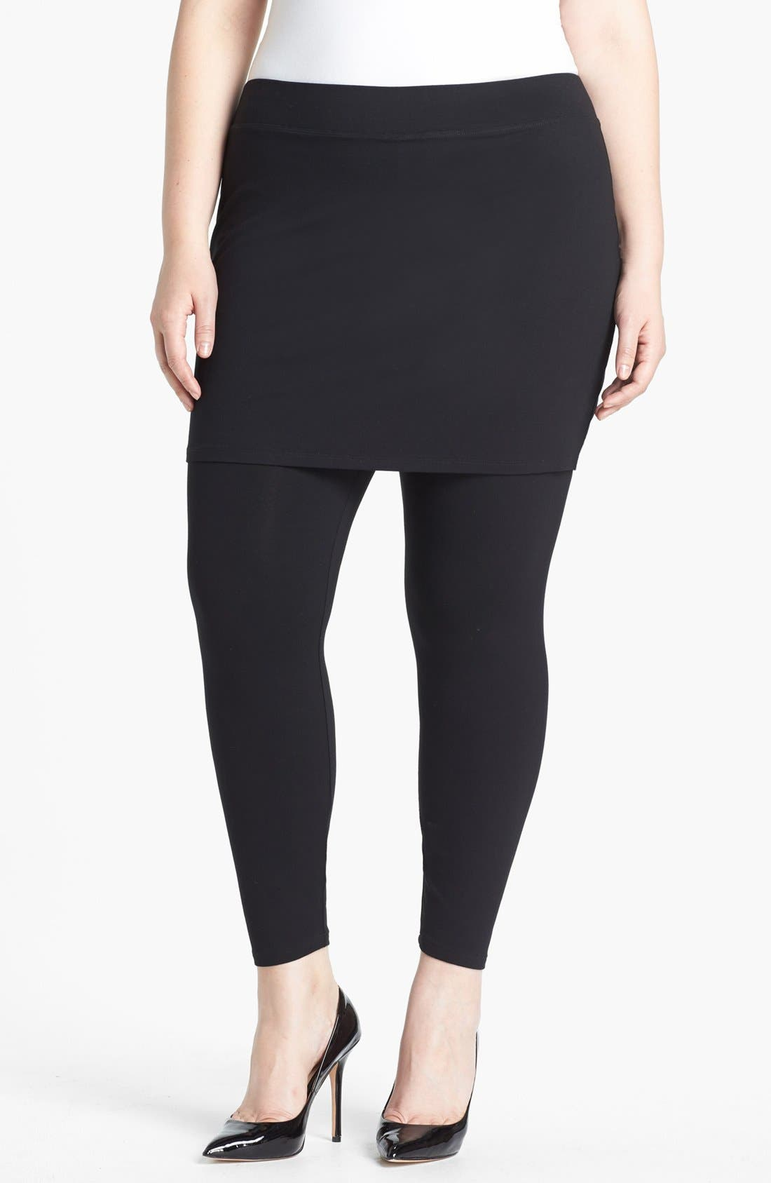 Eileen Fisher Skirted Leggings (Plus Size)