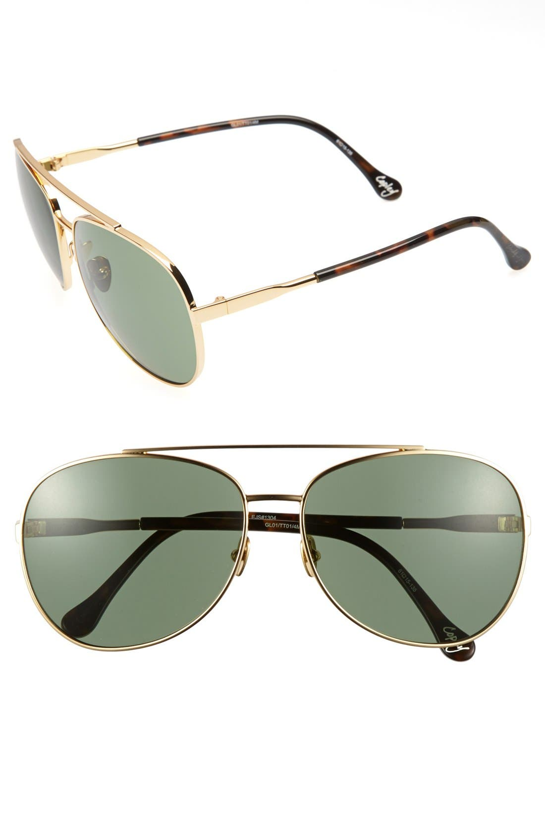 Alternate Image 1 Selected - Elizabeth & James 'Copley' 61mm Metal Aviator Sunglasses