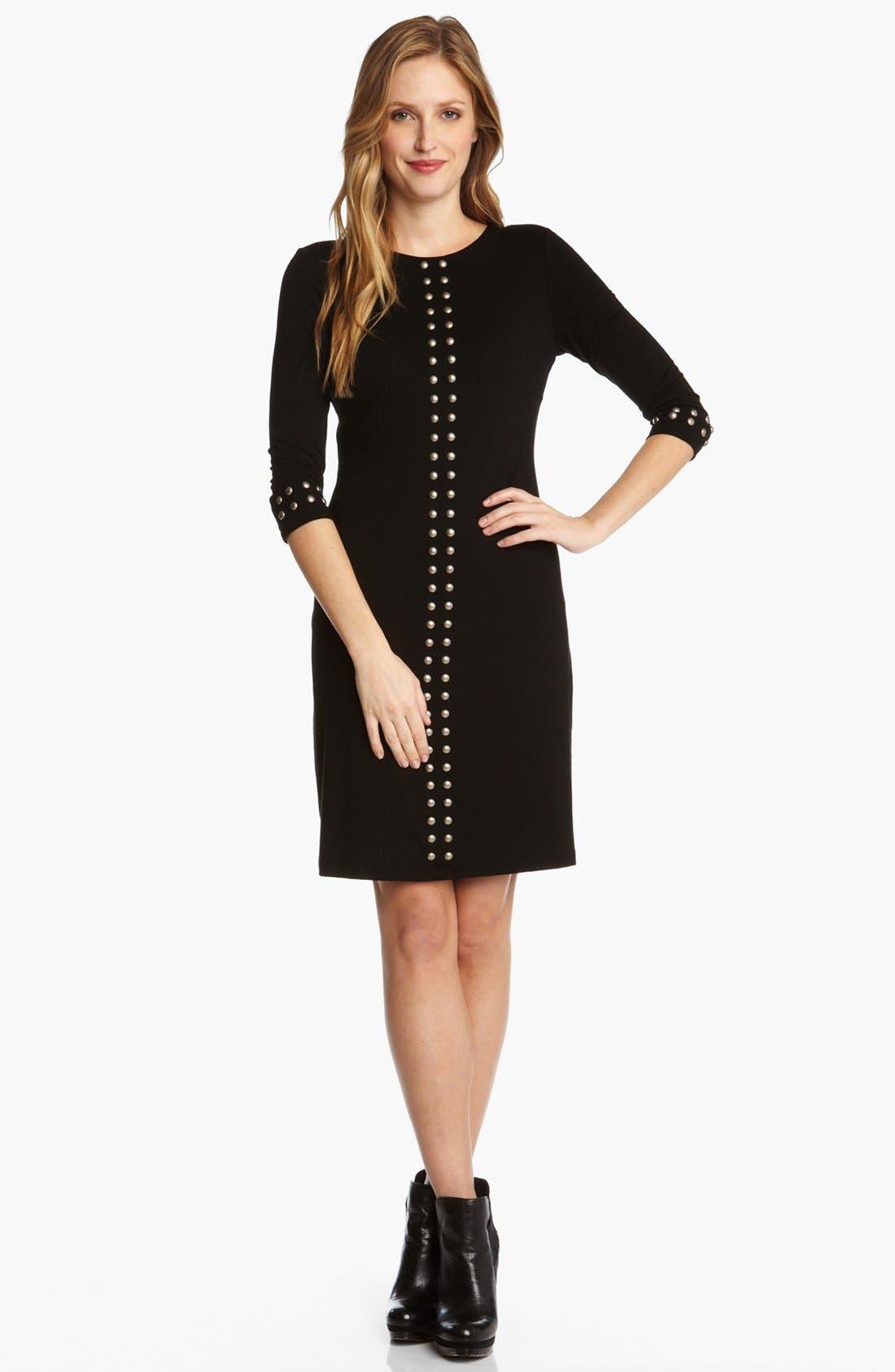Main Image - Karen Kane 'Left Bank' Studded Jersey Dress