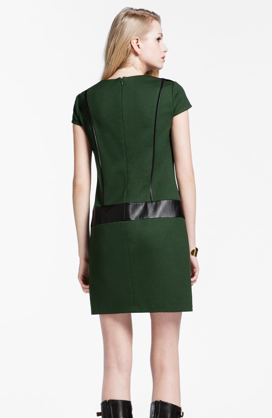 Alternate Image 2  - Cynthia Steffe 'Perla' Faux Leather Trim Shift Dress