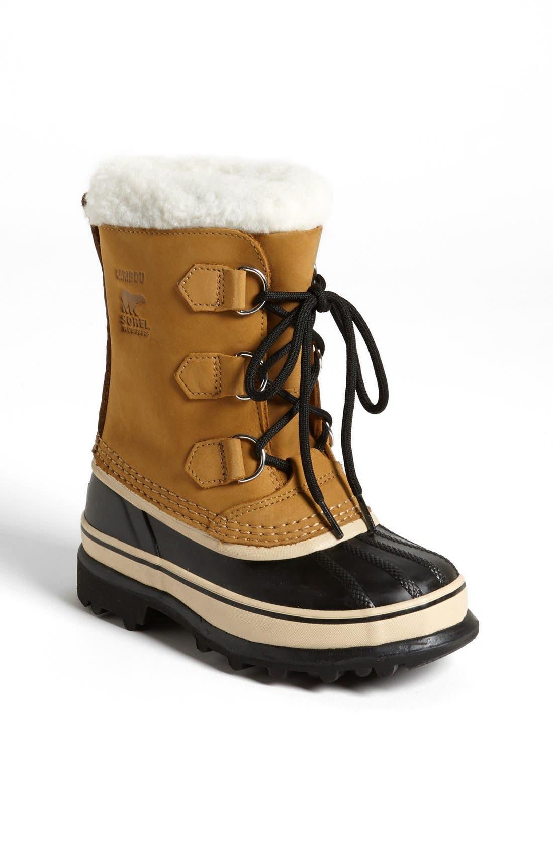 Alternate Image 1 Selected - SOREL Caribou Waterproof Boot (Little Kid & Big Kid)