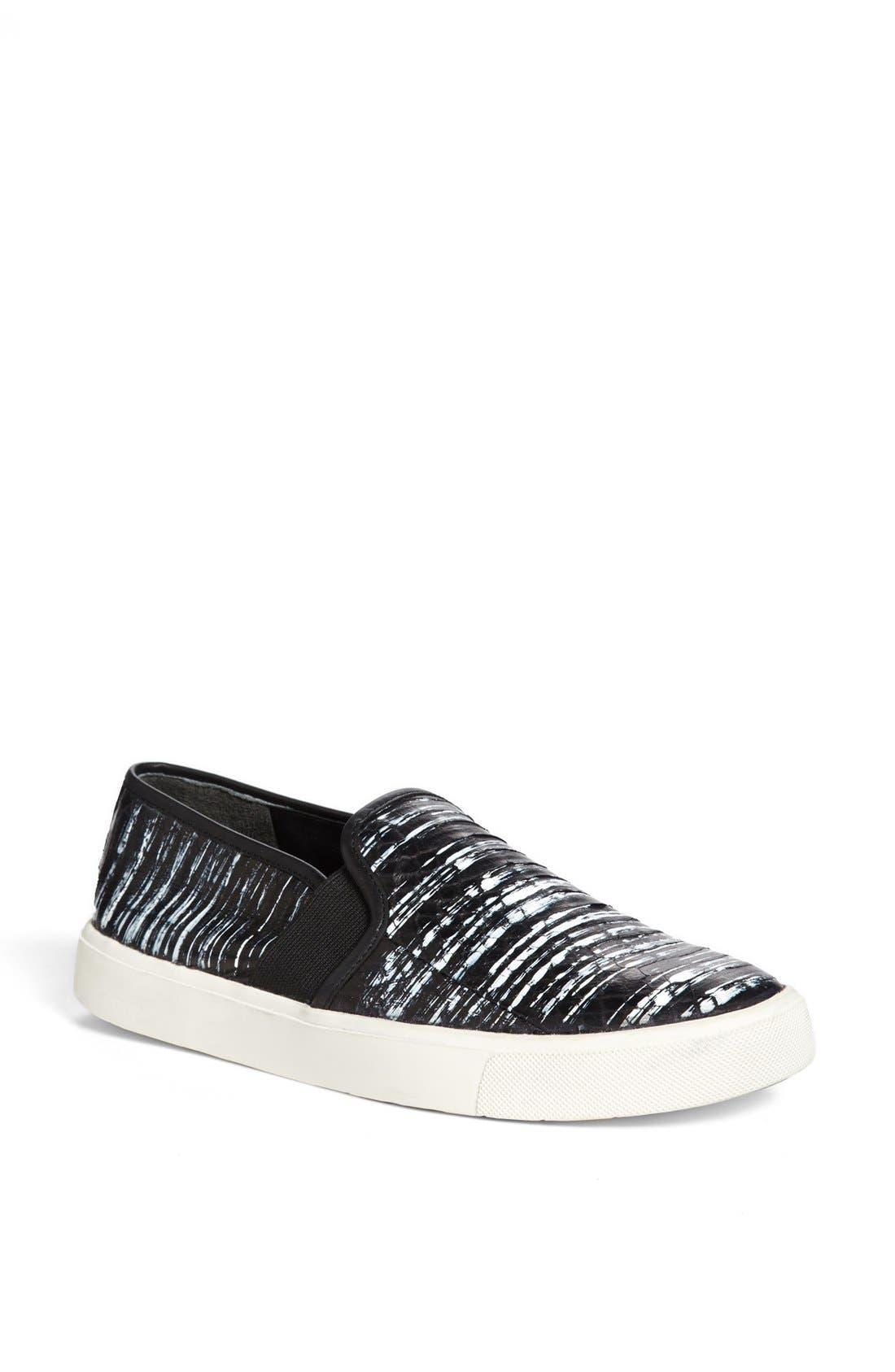 Alternate Image 1 Selected - Vince 'Blair 7' Snakeskin Slip-On Sneaker