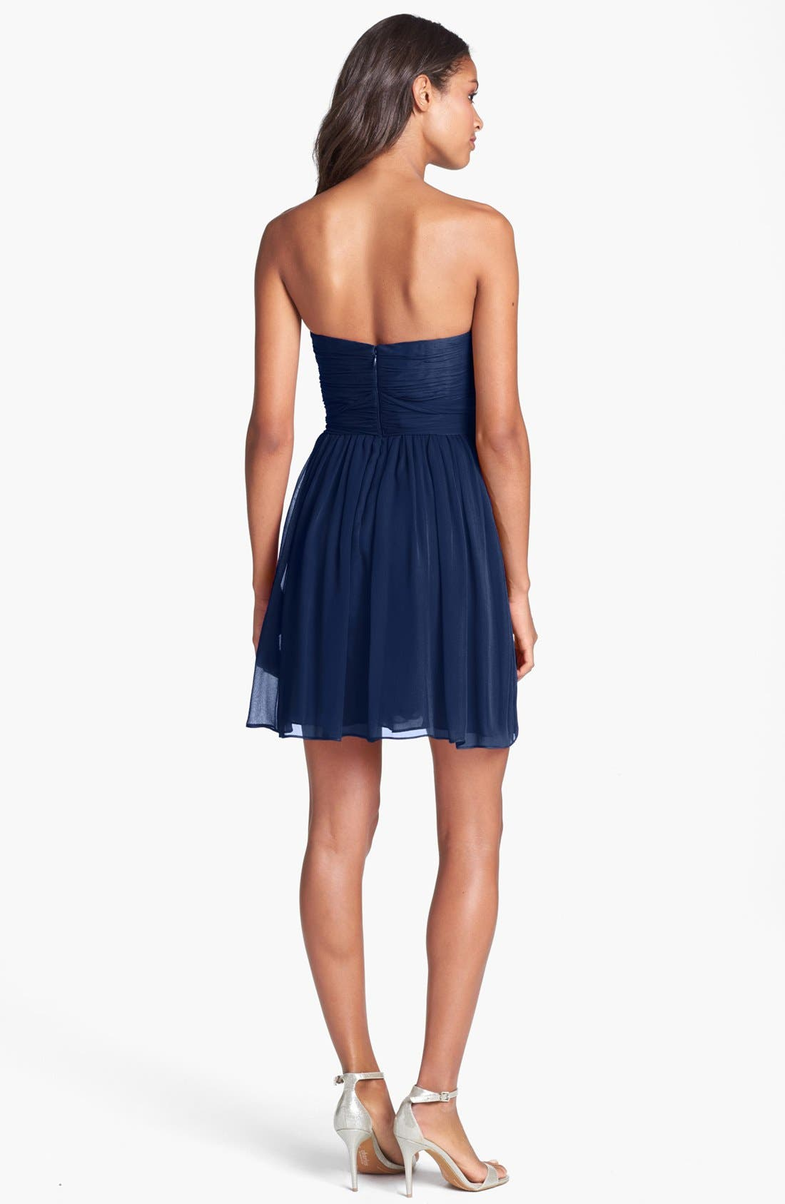 Alternate Image 2  - Jill Stuart Pleated Silk Chiffon Sweetheart Dress