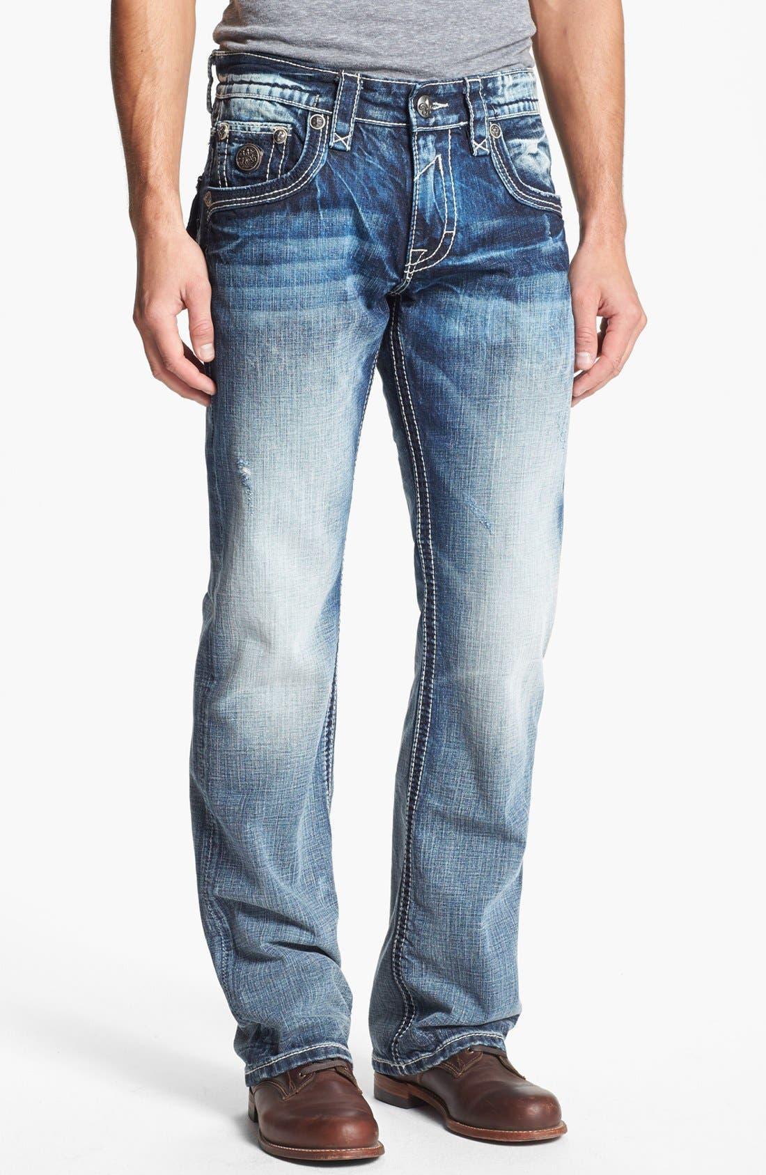 Alternate Image 2  - Rock Revival 'Carter' Straight Leg Jeans (Light Blue)