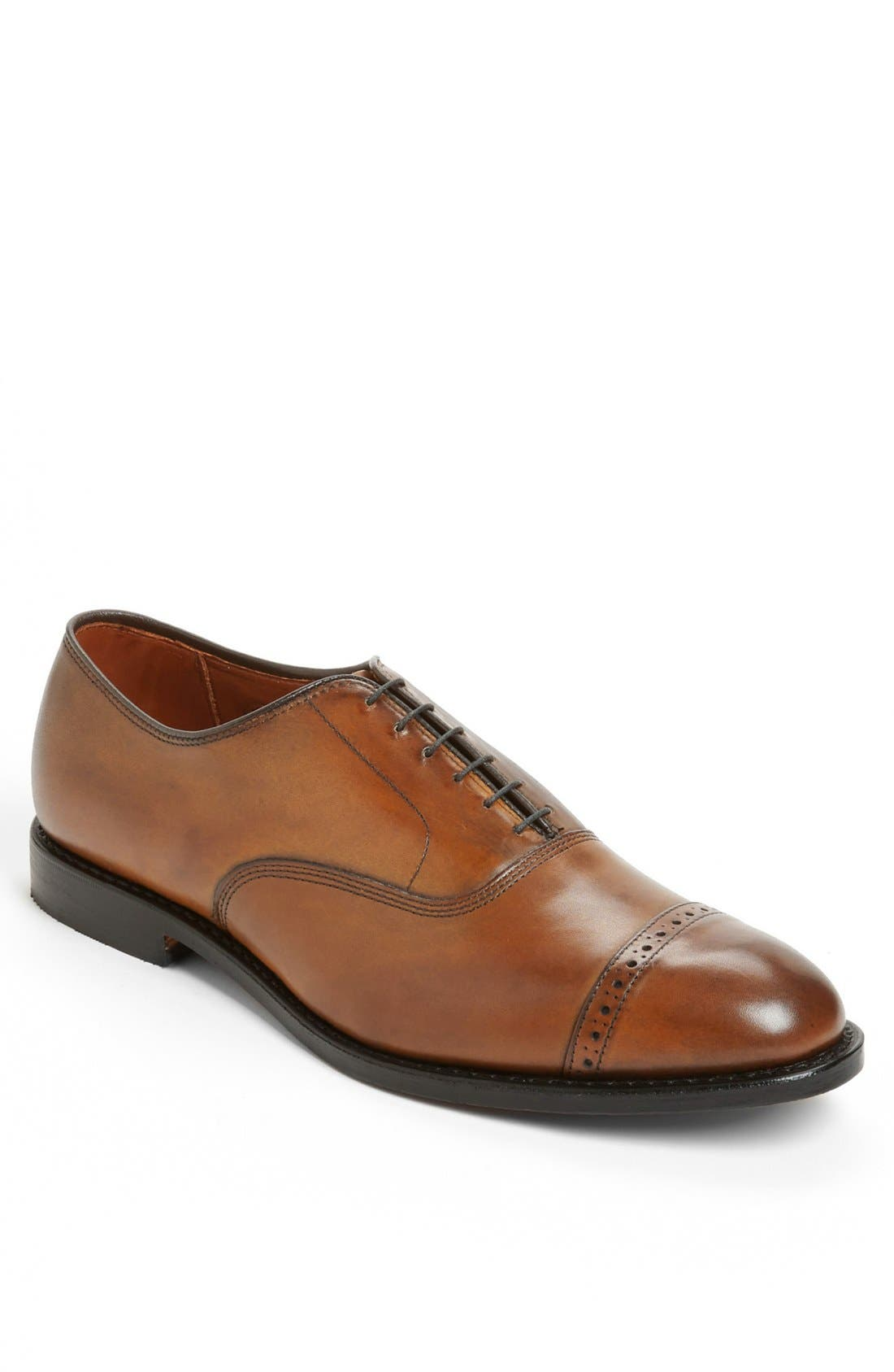 'Fifth Avenue' Oxford,                             Main thumbnail 1, color,                             Walnut Calf