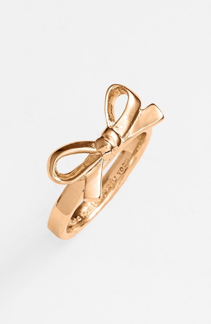 Ring Bow Il Gioiello Personalizzabile Con La Tua Nailart: Kate Spade New York 'skinny Mini' Bow Ring
