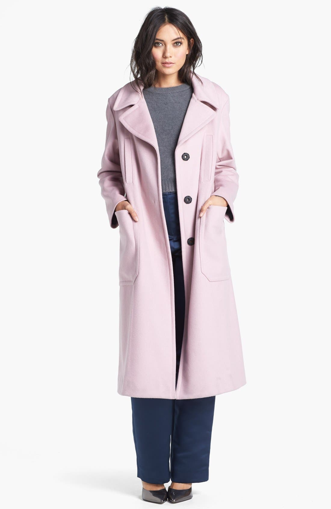 Alternate Image 1 Selected - Topshop Unique Long Wool Blend Coat