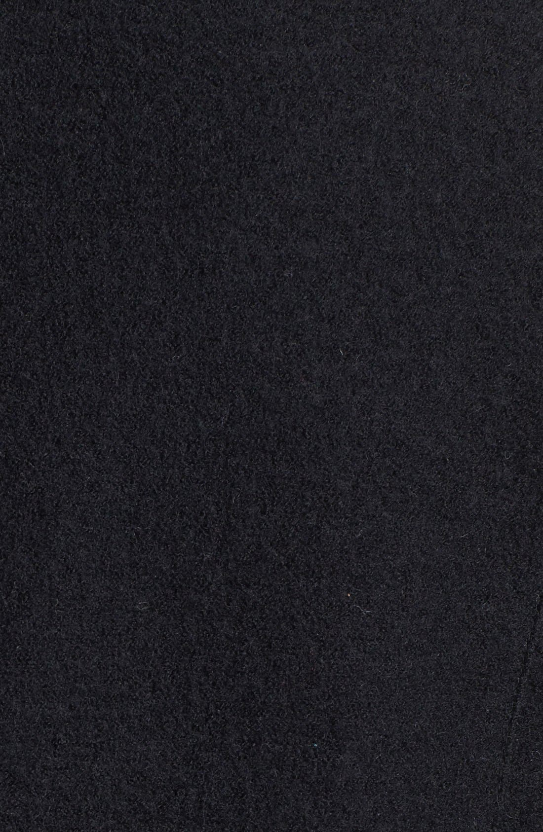 Alternate Image 5  - Halogen® Wool & Faux Leather Jacket (Regular & Petite)