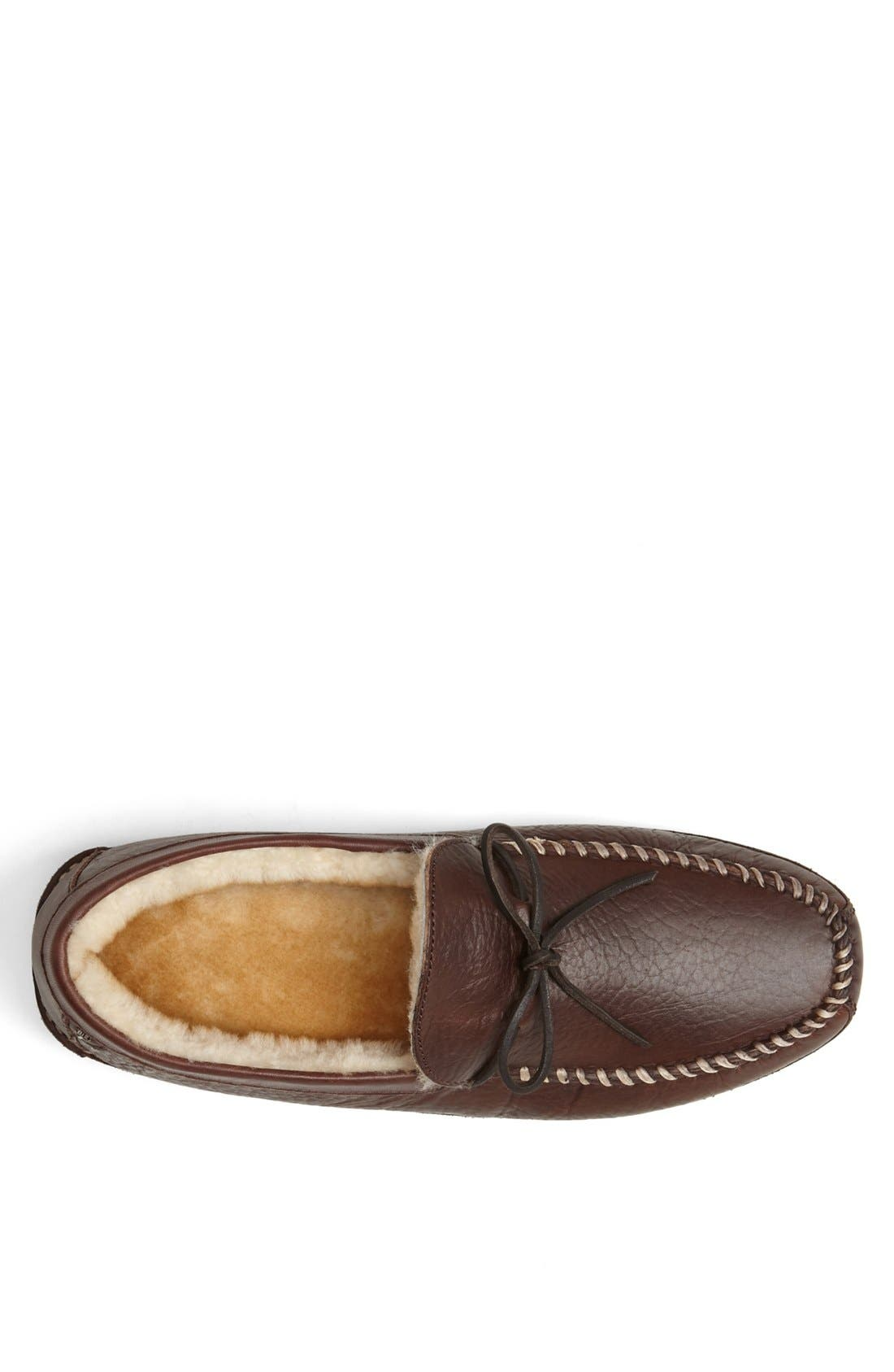 'Polson' Slipper,                             Alternate thumbnail 3, color,                             Bourbon Bison