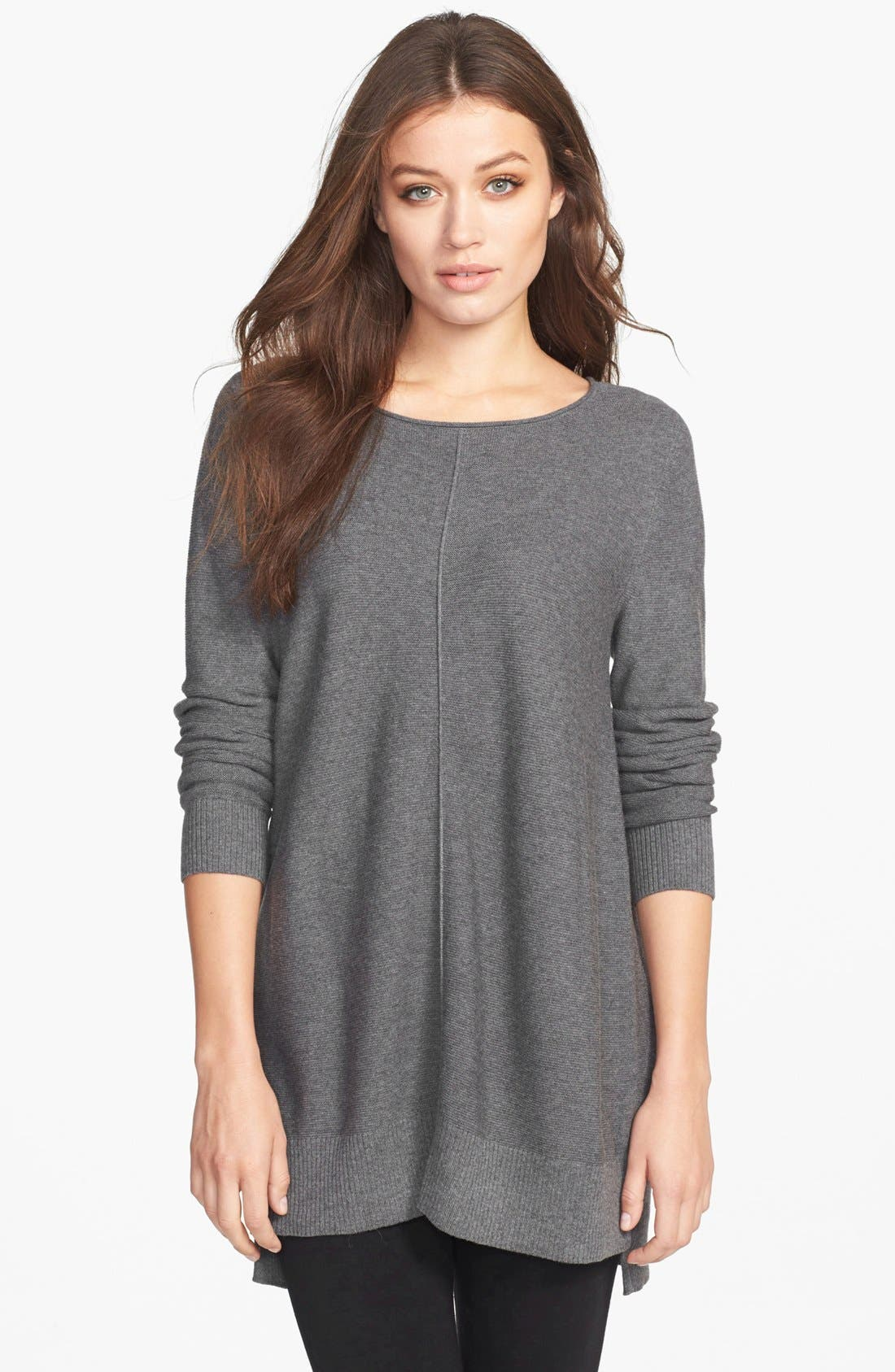 Alternate Image 1 Selected - Eileen Fisher Organic Cotton Bateau Neck Top