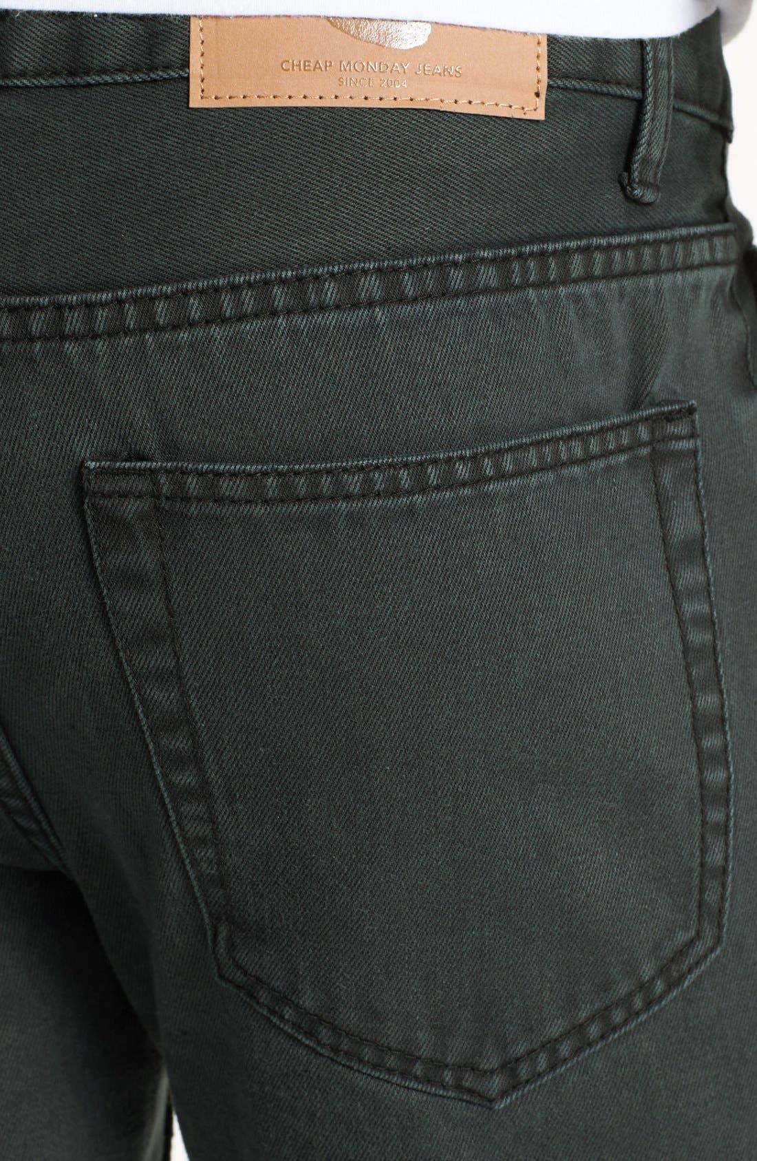 Alternate Image 4  - Cheap Monday High Slim Straight Leg Jeans (Black Night)