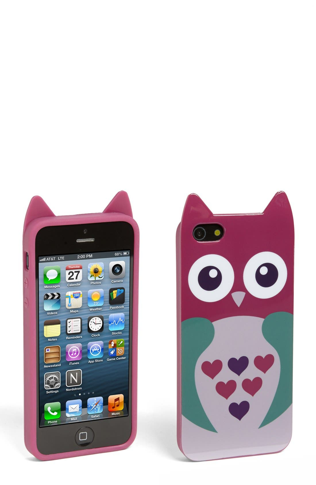 Alternate Image 1 Selected - Capelli of New York 'Full of Hearts Owl' iPhone 5 Case (Juniors)