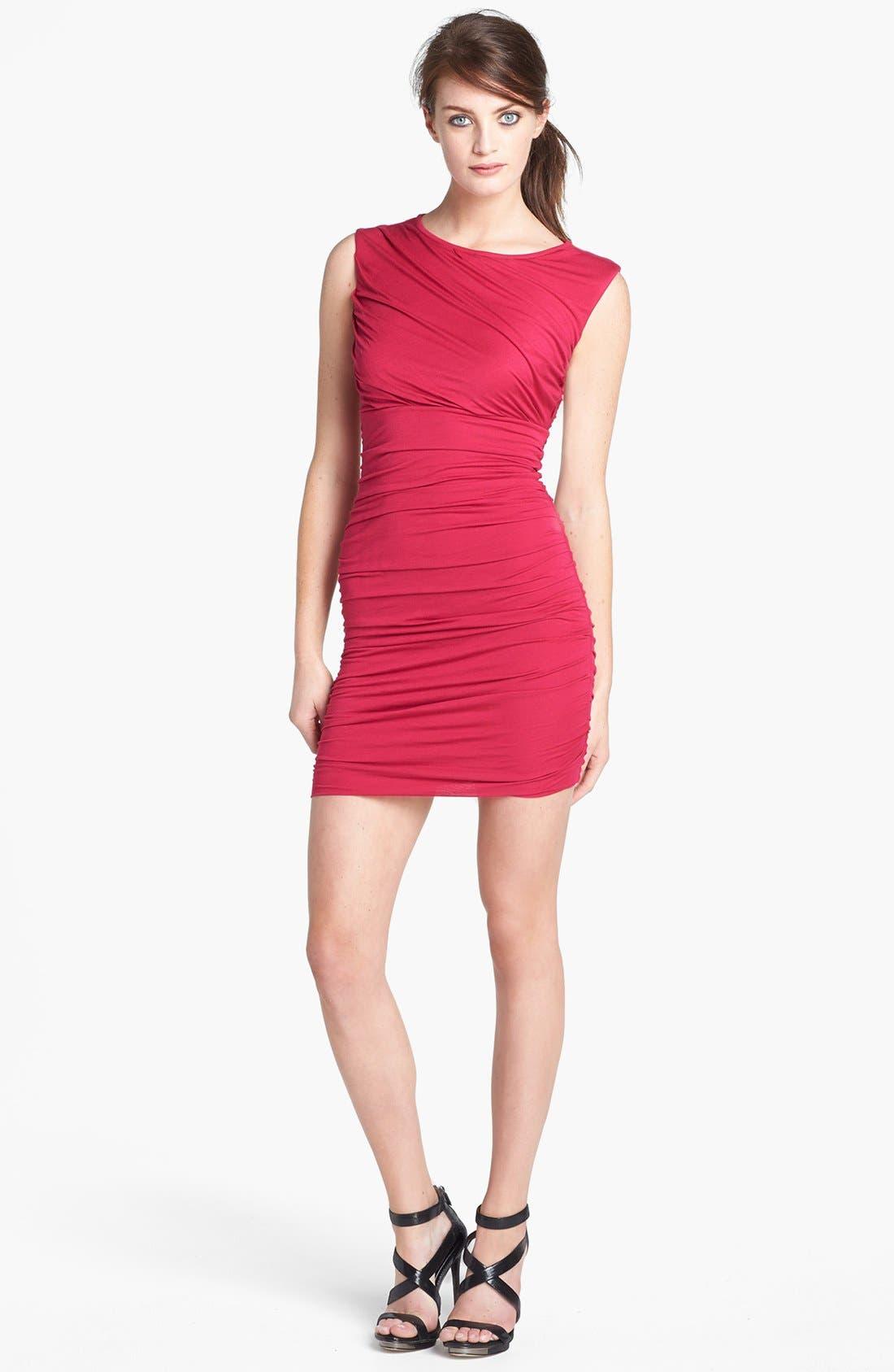 Alternate Image 1 Selected - Diane von Furstenberg 'Angelina' Ruched Knit Sleeveless Dress
