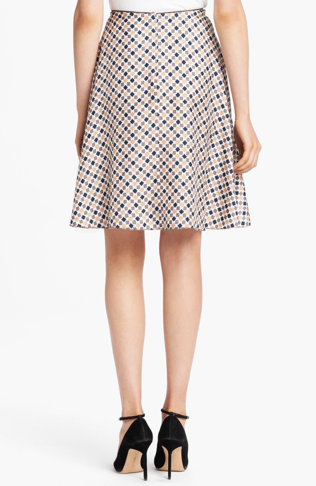 Alternate Image 2  - Nina Ricci Geometric Print Silk A-Line Skirt