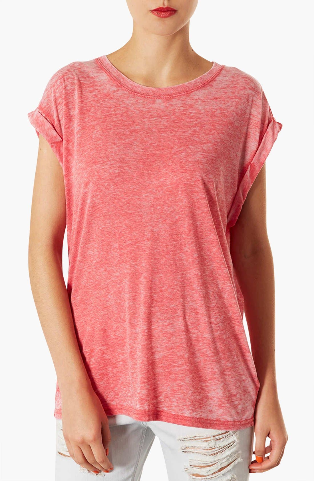 Alternate Image 1 Selected - Topshop Burnout Tee