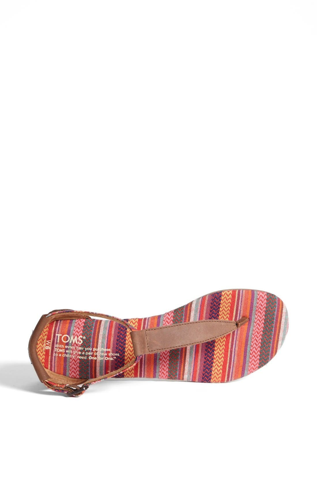 Alternate Image 3  - TOMS 'Playa' T-Strap Flat Sandal