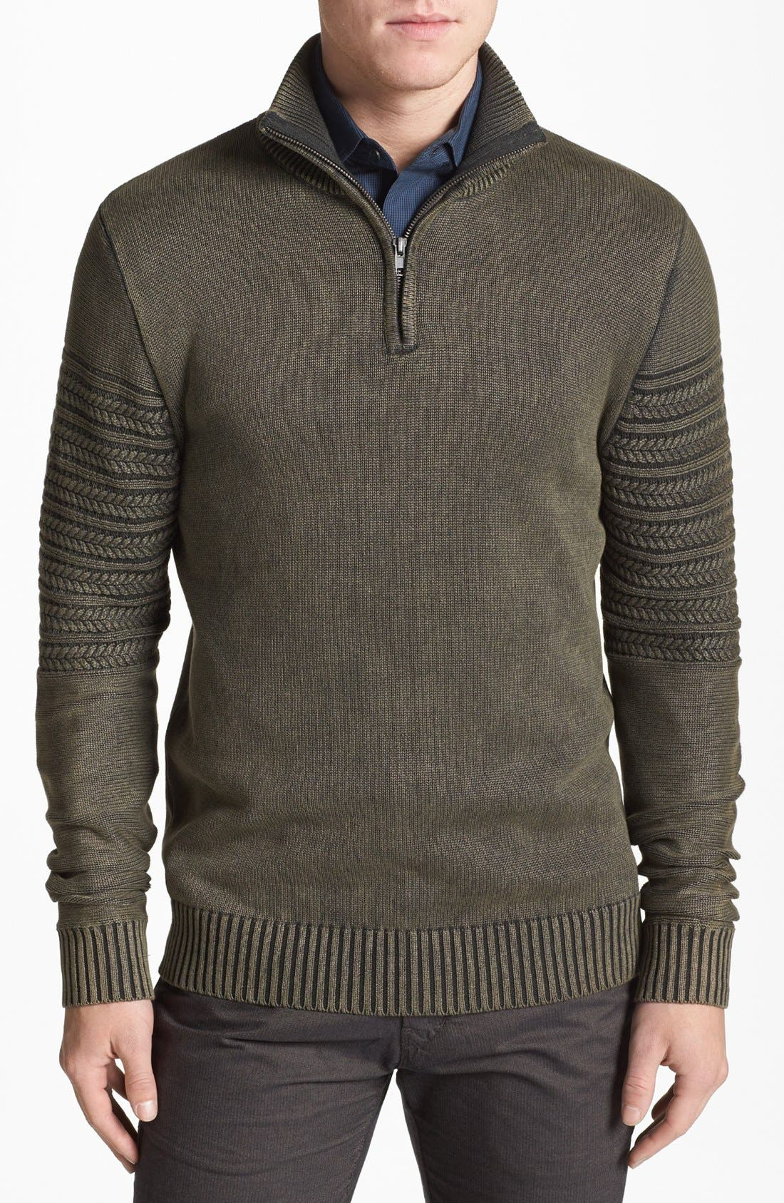 Main Image - Vince Camuto Slim Fit Half Zip Sweater
