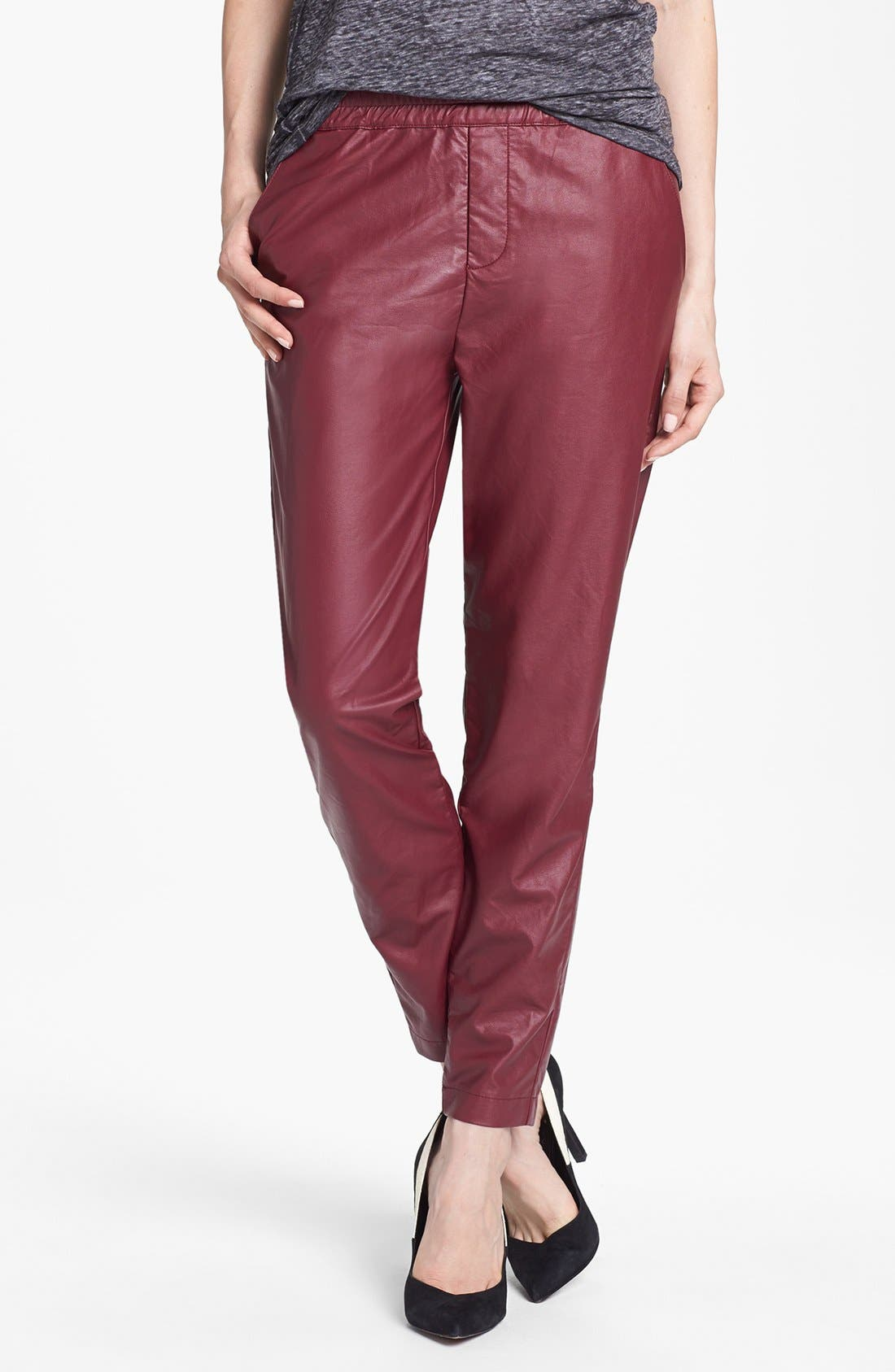 Main Image - Piper Faux Leather Track Pants
