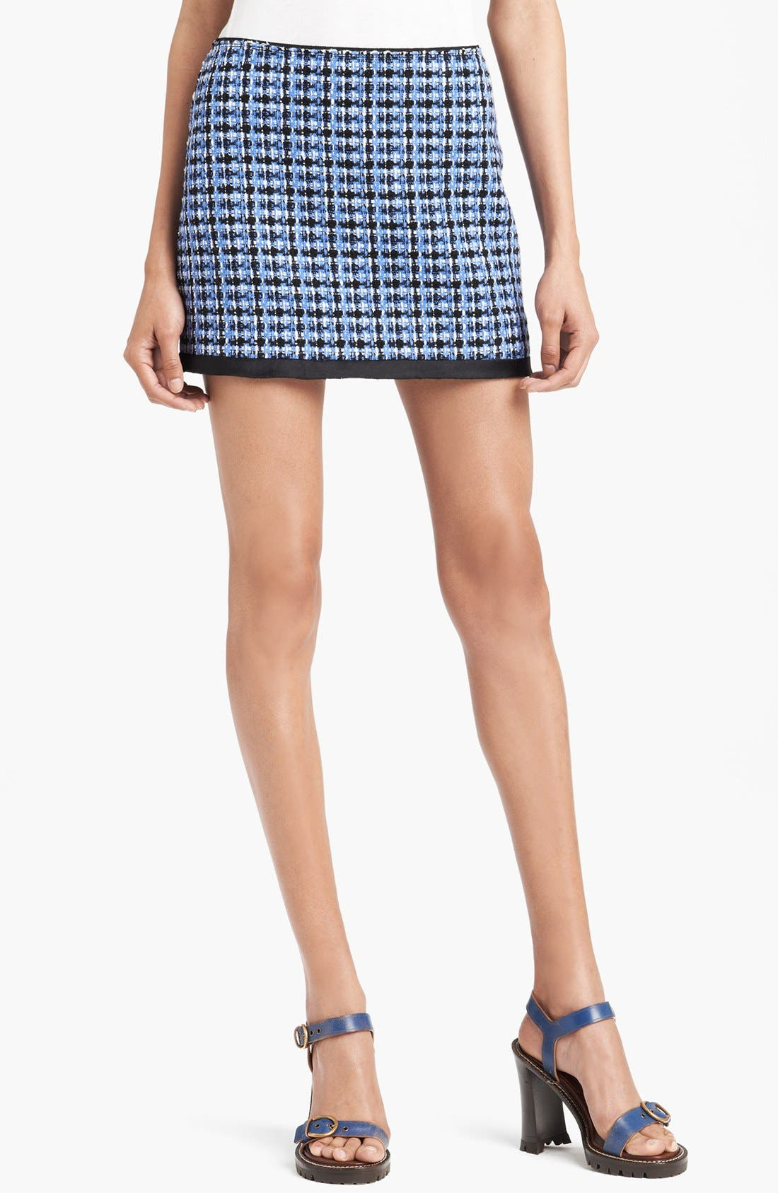 Main Image - MARC JACOBS Wool Blend Tweed Miniskirt