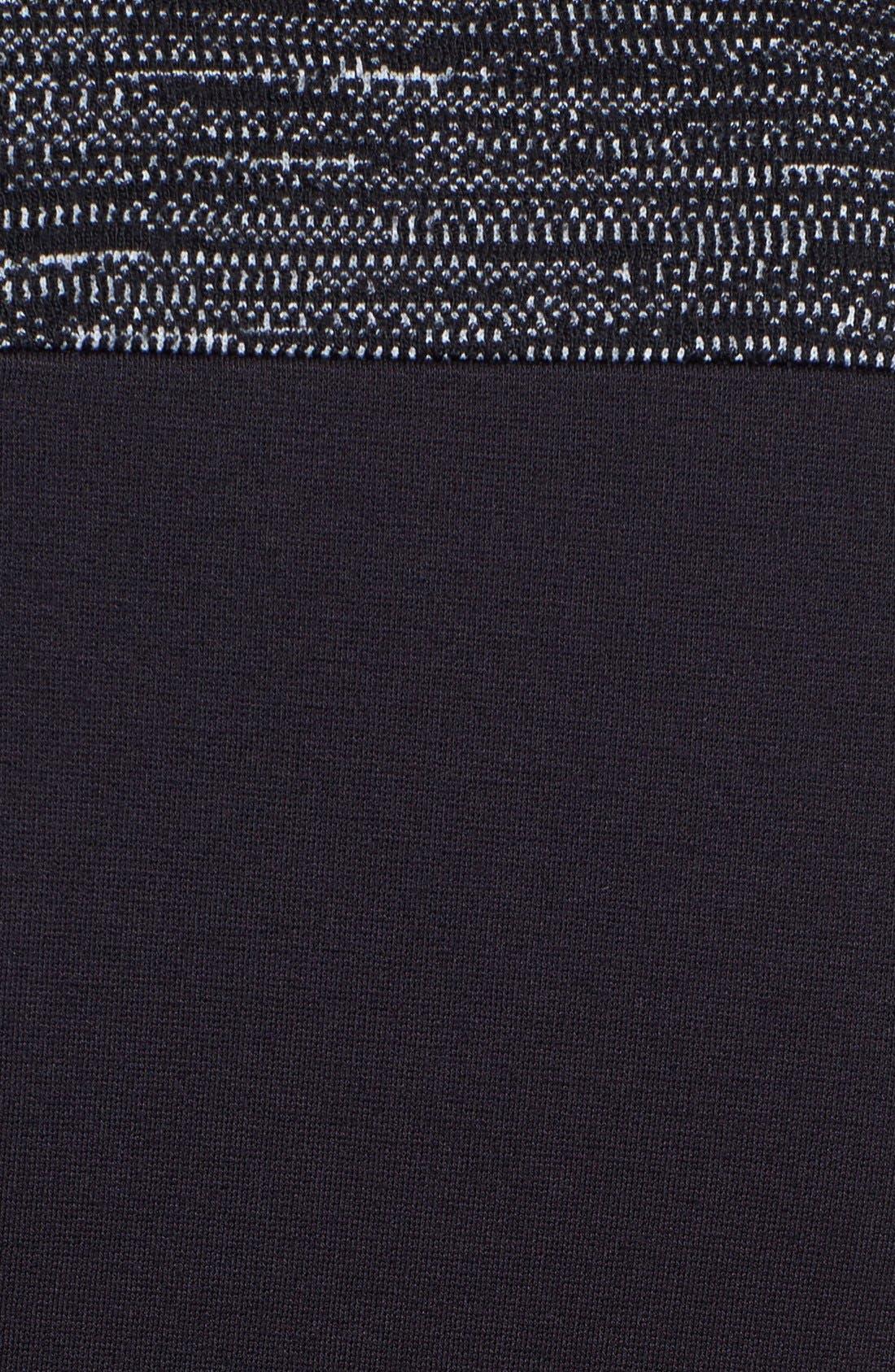 Alternate Image 3  - Classiques Entier® Mélange Ponte di Roma Zip Front Dress