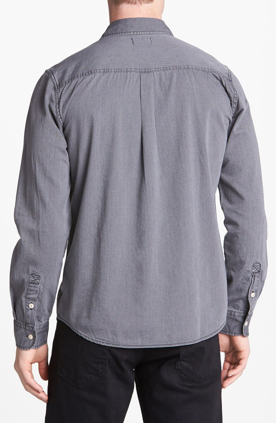 Alternate Image 2  - AG Slim Fit Chambray Surplus Sport Shirt