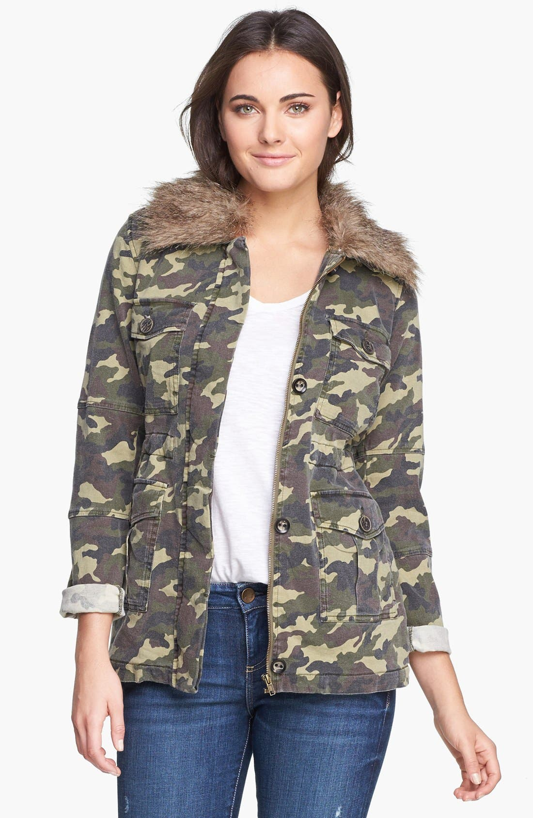 Alternate Image 1 Selected - KUT from the Kloth 'Nolan' Camo Print Jacket