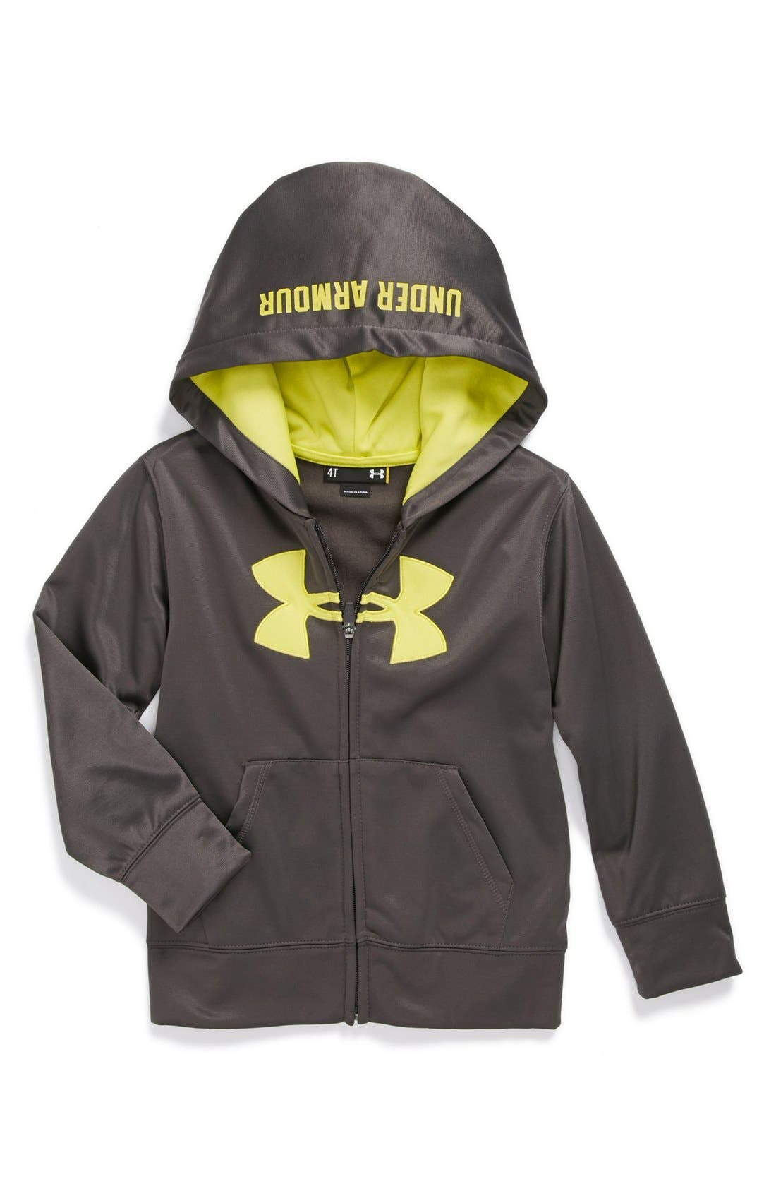 Alternate Image 1 Selected - Under Armour 'Big Logo' Hoodie (Toddler Boys)