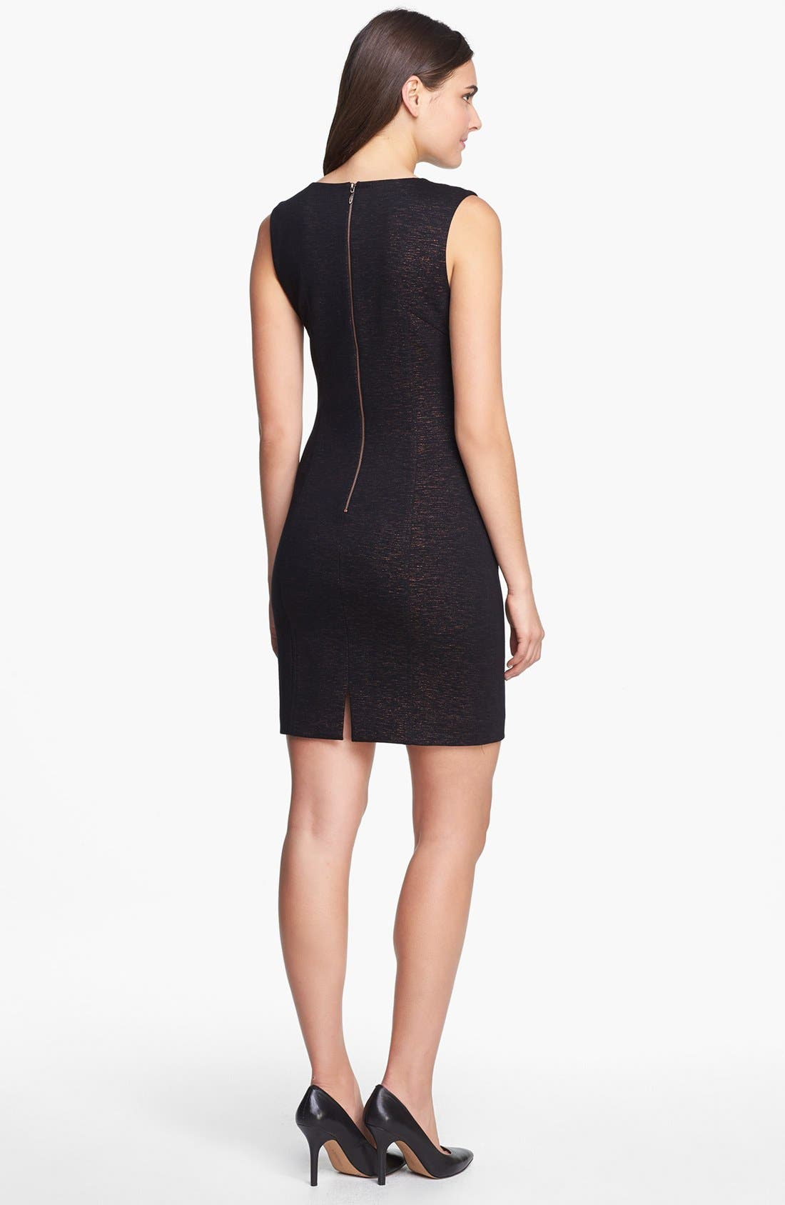 Alternate Image 2  - Laundry by Shelli Segal Metallic Cutout Ponte Dress