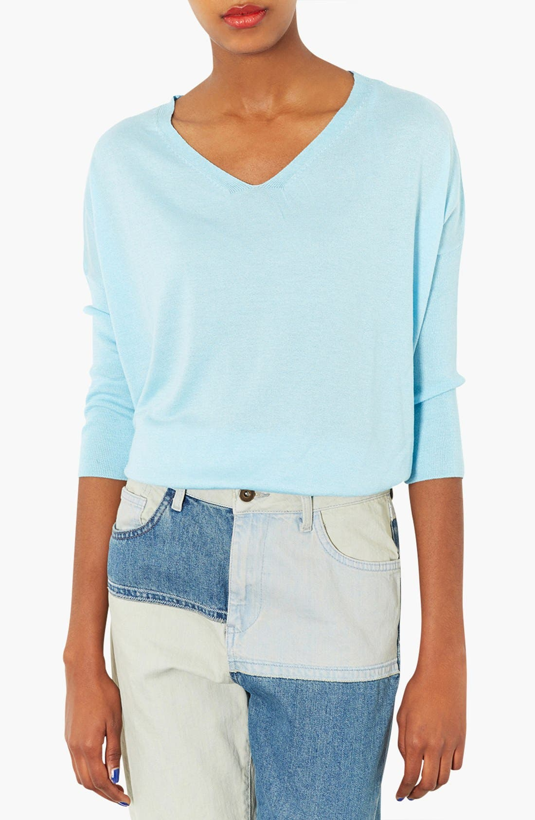 Alternate Image 1 Selected - Topshop Knit V-Neck Sweater