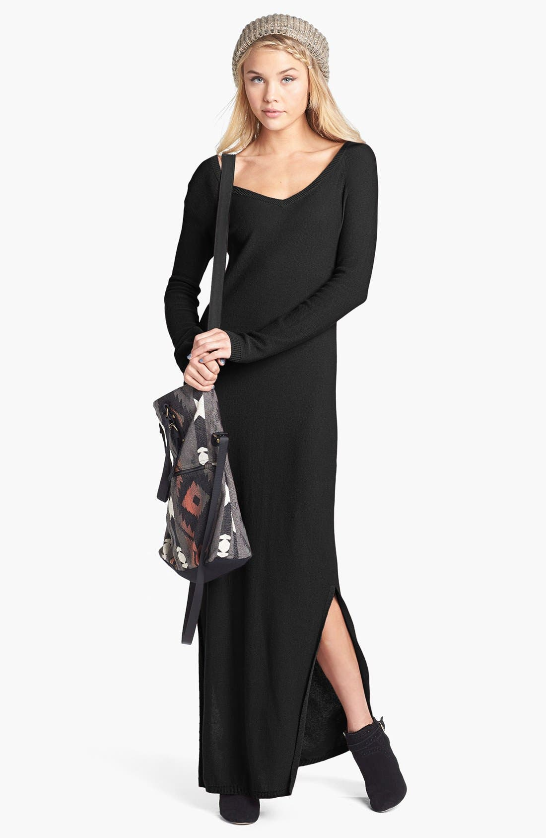 Main Image - Rubbish® V-Neck Sweater Maxi Dress (Juniors)