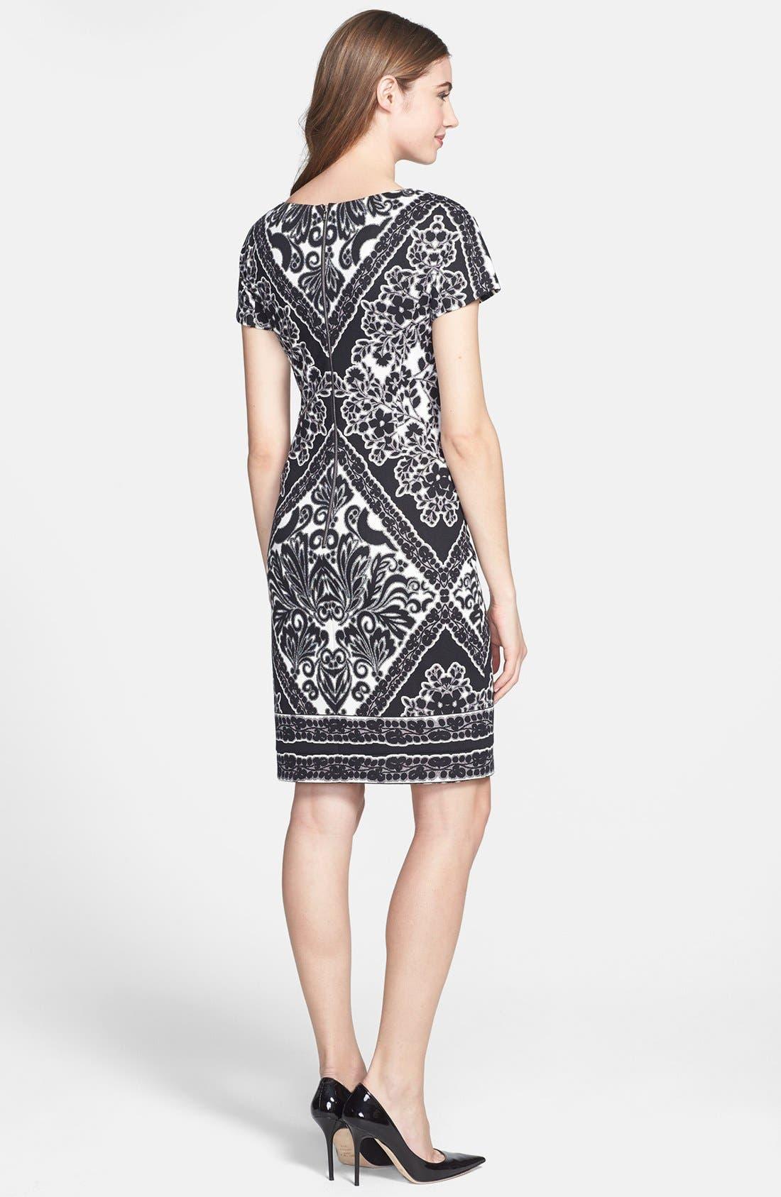 Alternate Image 2  - Maggy London Print Ponte Sheath Dress