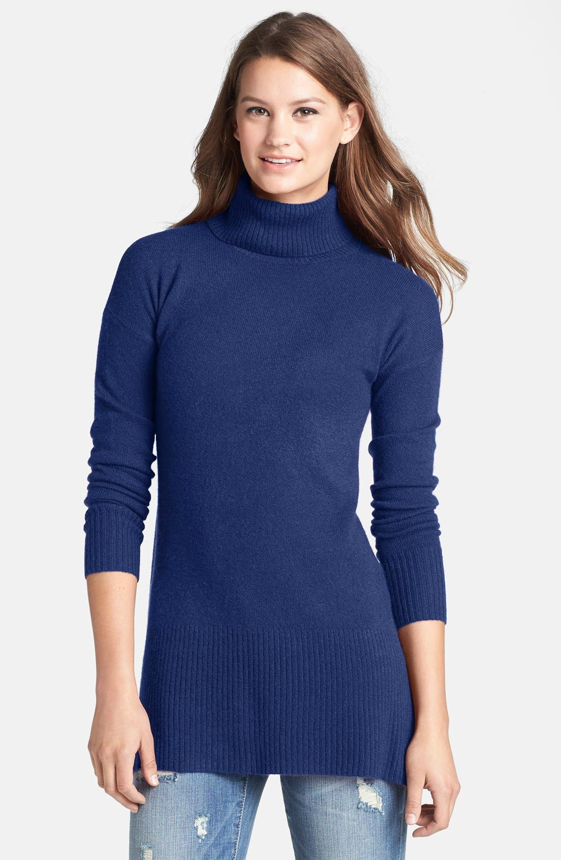 Alternate Image 1 Selected - Caslon® Cashmere Turtleneck Sweater