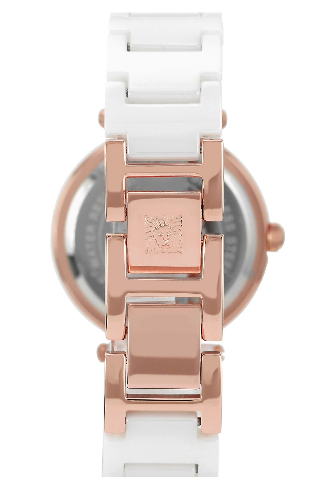 Alternate Image 2  - Anne Klein Round Ceramic Bracelet Watch