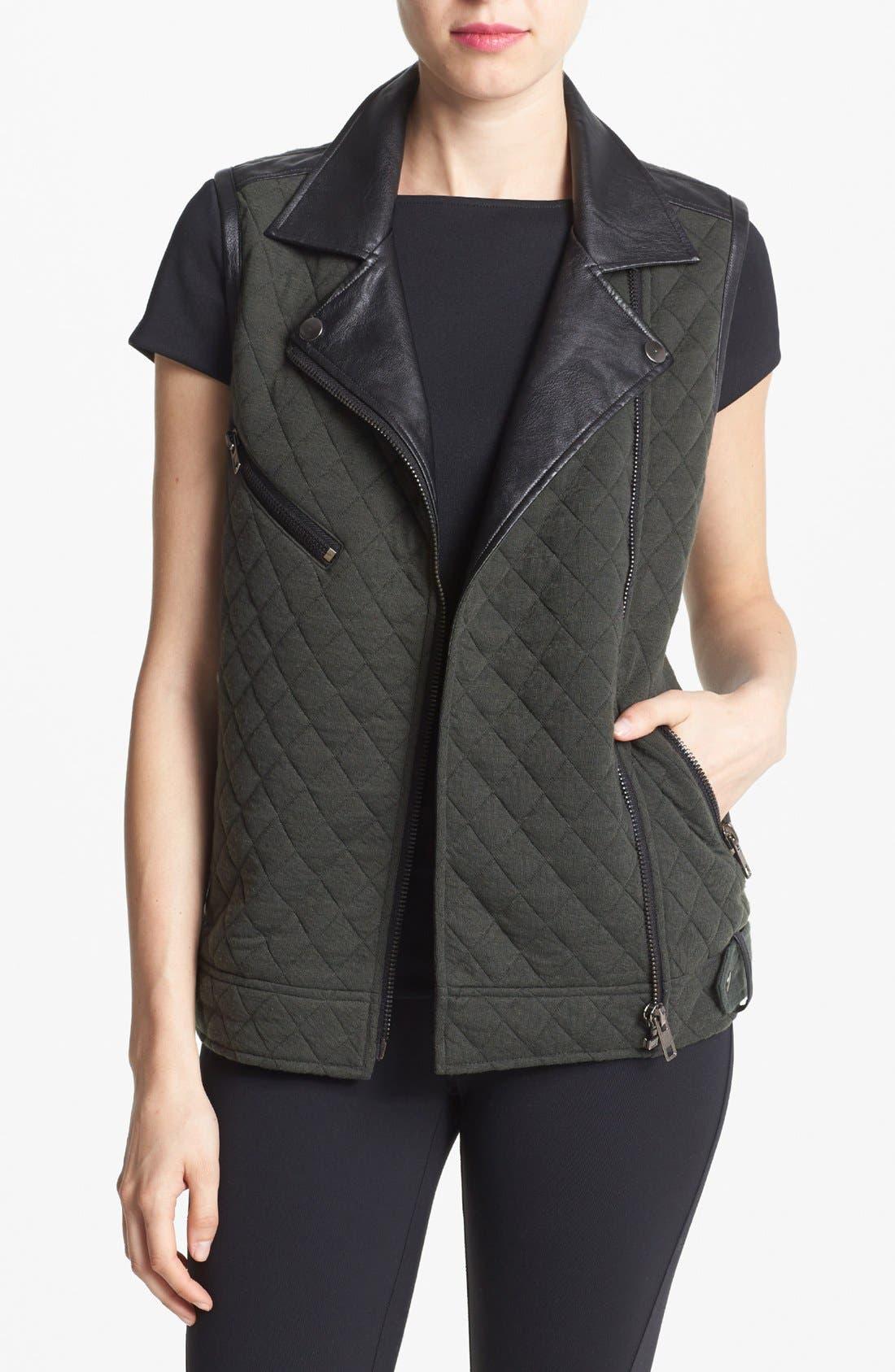 Main Image - ASTR Quilted Fleece Moto Vest