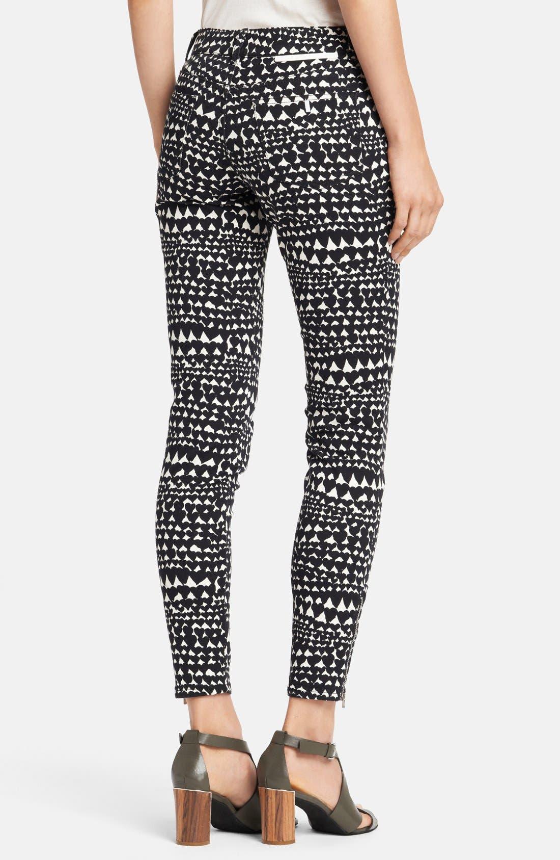Alternate Image 2  - Stella McCartney 'Jessica' Heart Print Skinny Ankle Zip Jeans