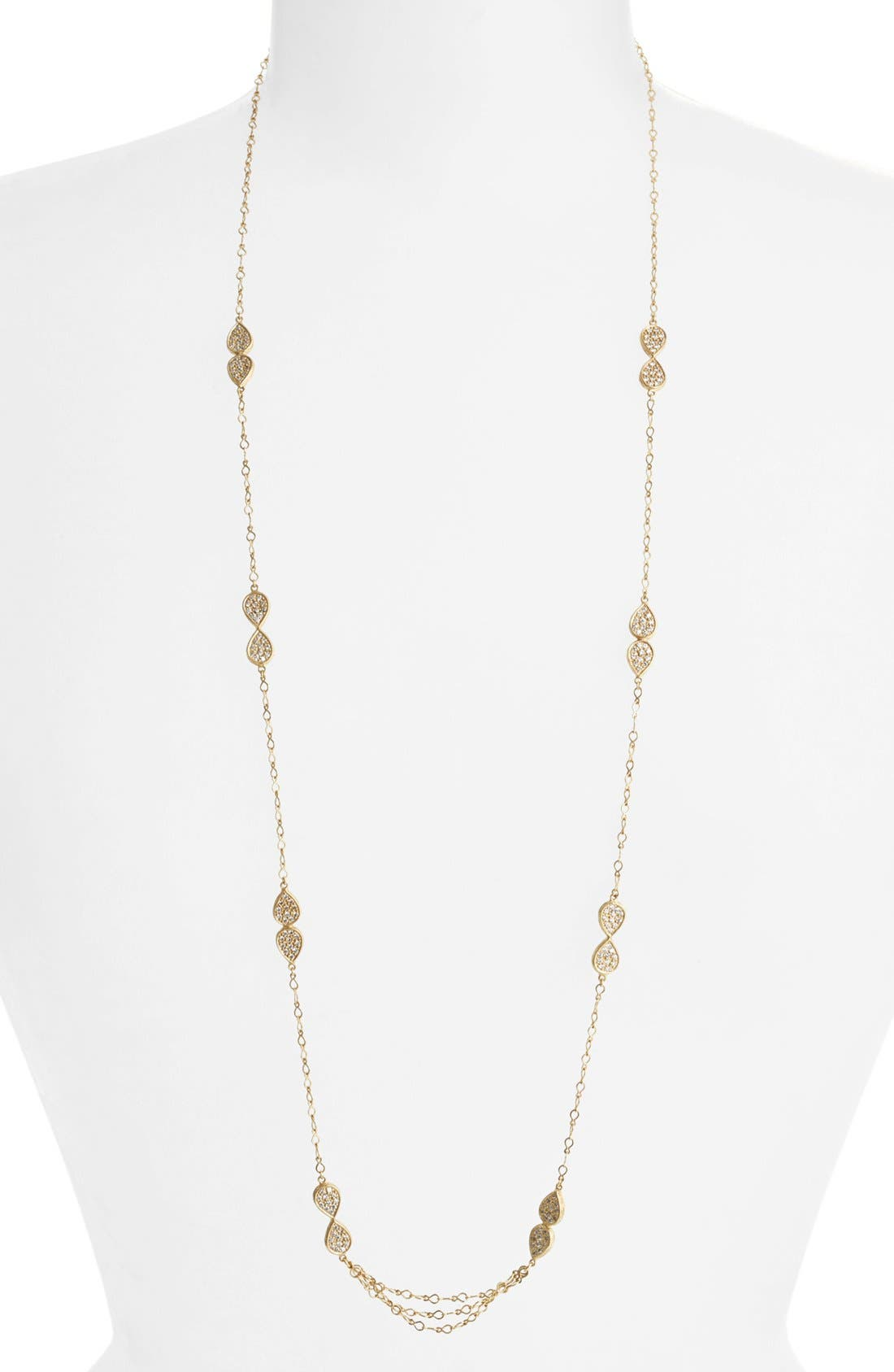 Main Image - Melinda Maria 'June - Leaf' Long Station Necklace