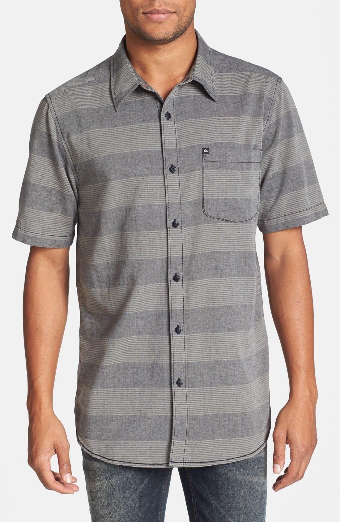 Alternate Image 1 Selected - Quiksilver 'Tube Release' Stripe Short Sleeve Shirt