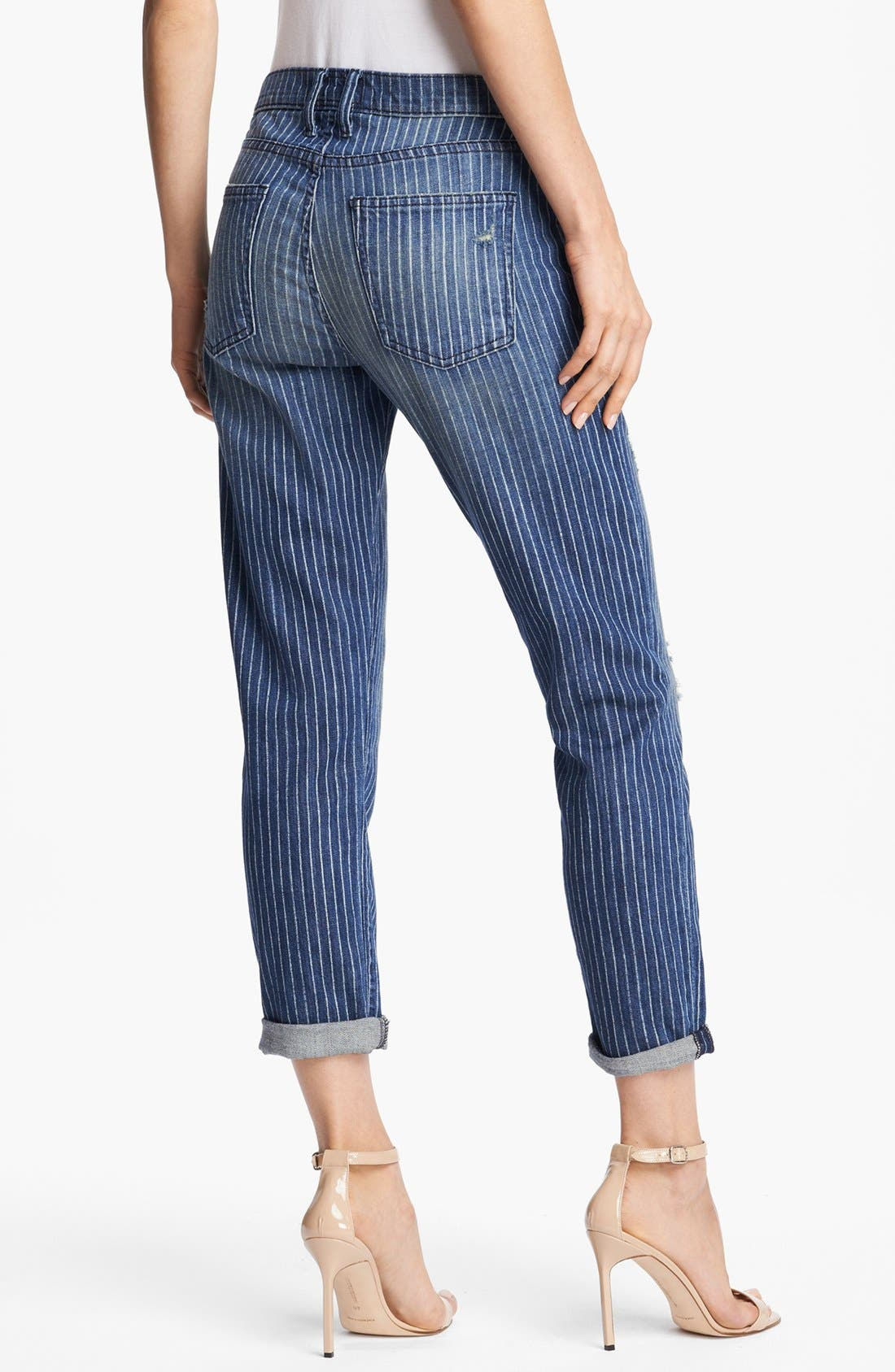 Alternate Image 2  - Current/Elliott 'The Fling' Pinstripe Jeans