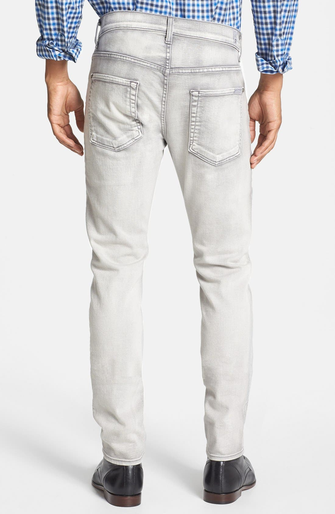 Alternate Image 2  - 7 For All Mankind® 'Paxtyn' Skinny Fit Jeans (Weathered White)