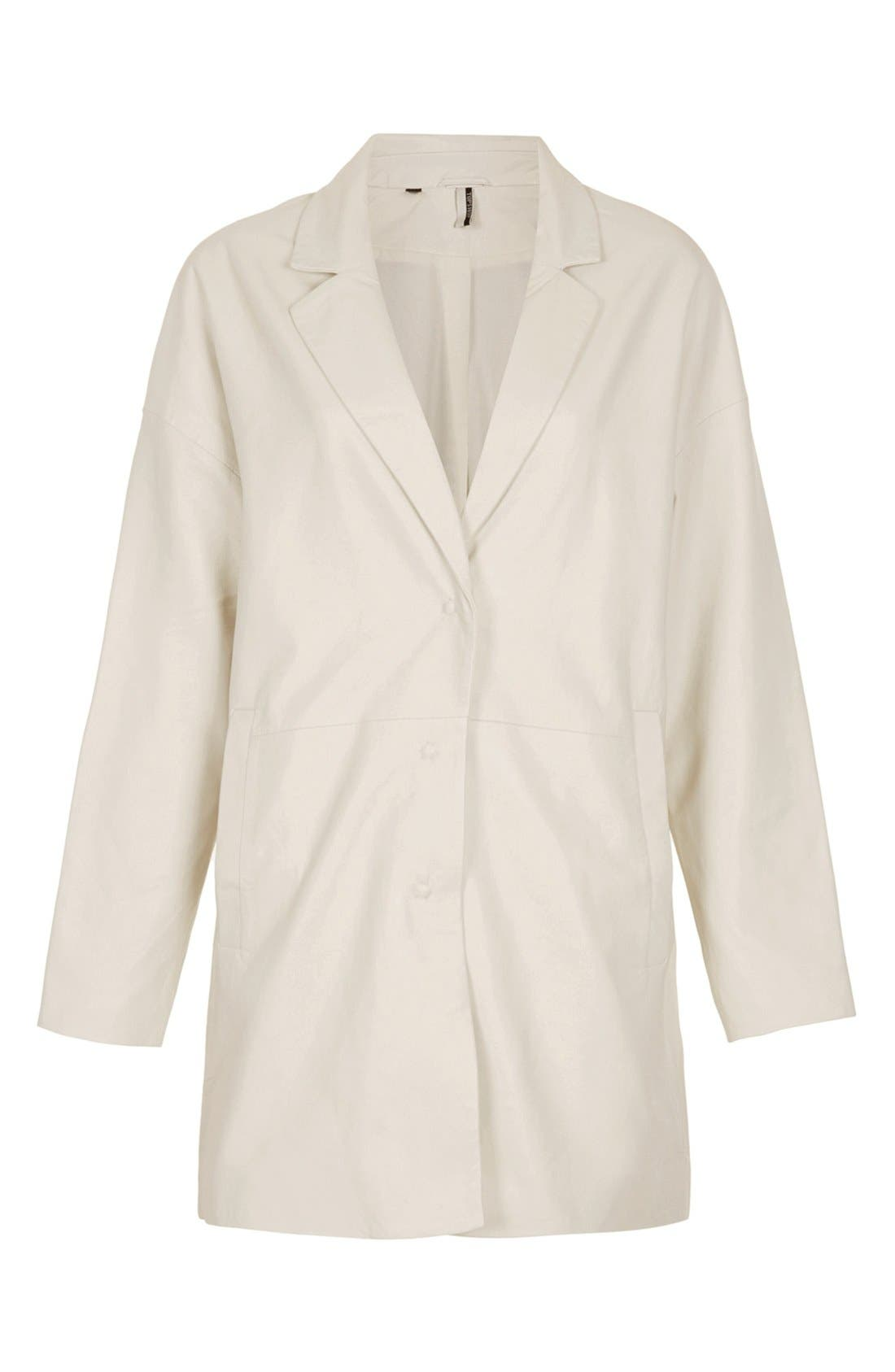 Main Image - Topshop 'The Collection Starring Kate Bosworth' Leather Coat