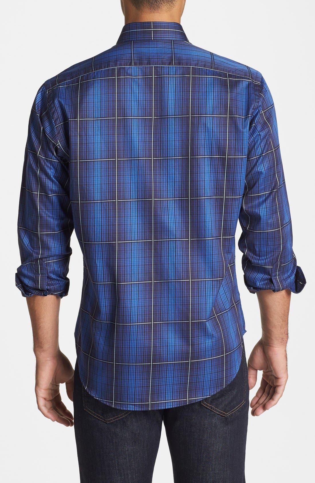 Alternate Image 2  - Thomas Dean Regular Fit Check Twill Sport Shirt
