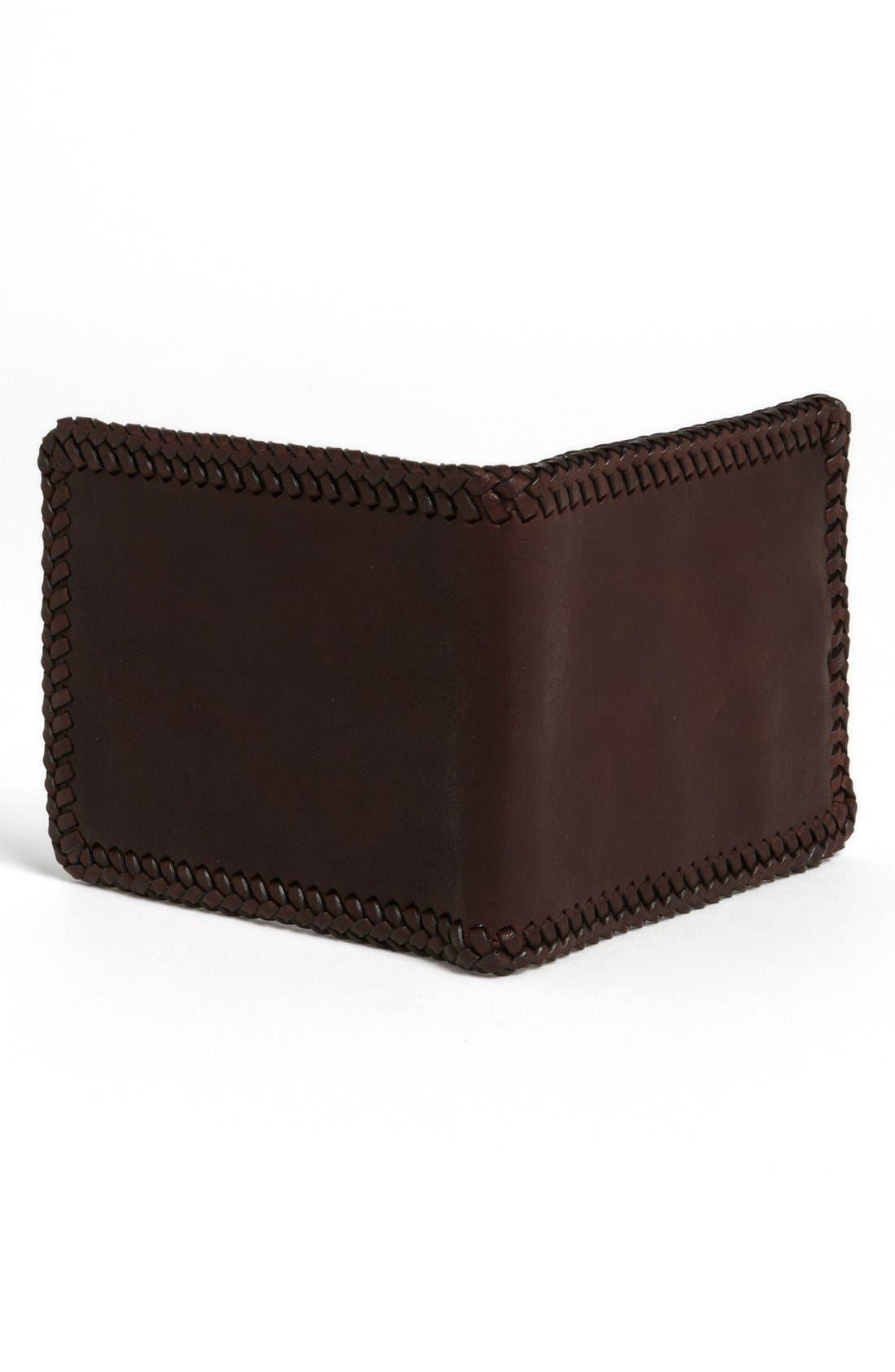 Alternate Image 2  - John Varvatos Collection Braided Leather Wallet