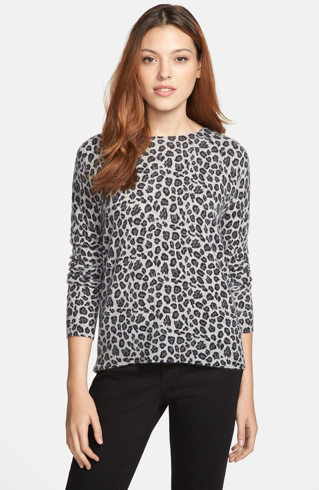 Main Image - Only Mine Print Cashmere Pullover