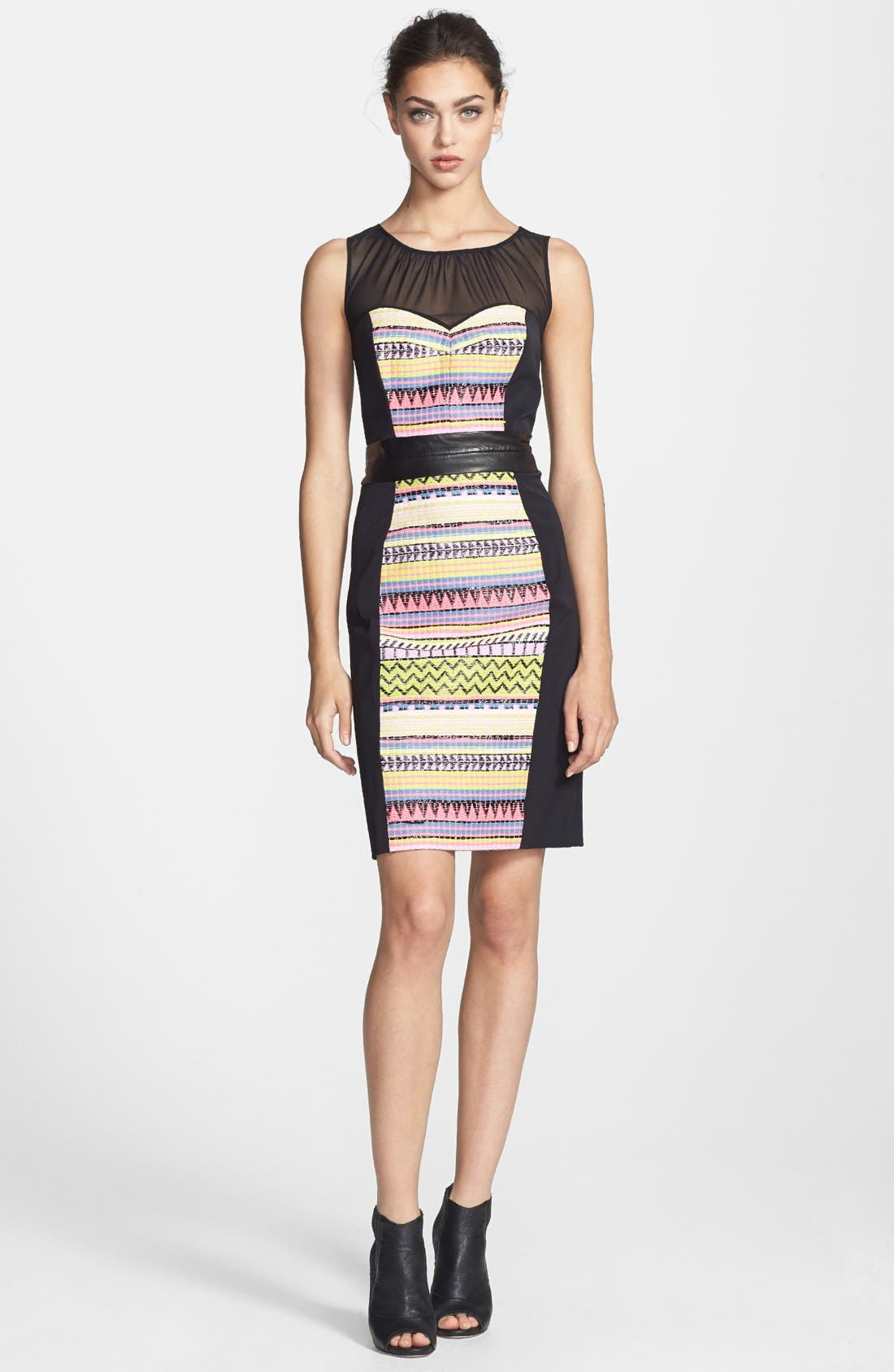 Main Image - Milly 'Lucia' Combo Sheath Dress