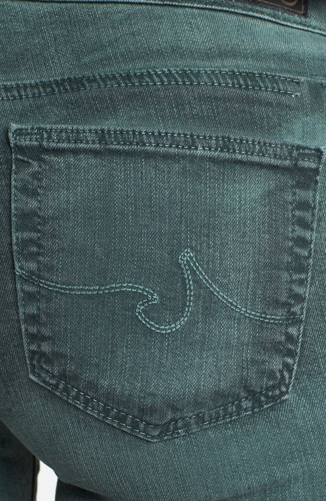 Alternate Image 2  - AG 'The Absolute Legging' Skinny Jeans (Storm Winter Green)